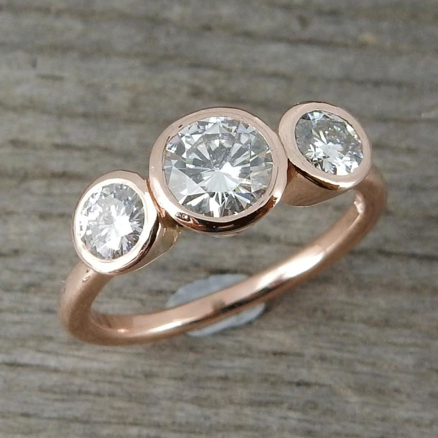 ring rustic diamond recycled gyrhxdy hammered white stylish simple rings gray engagement gold