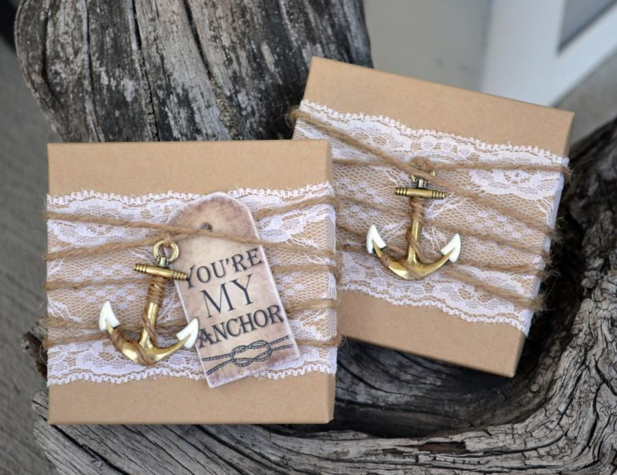 Will You Be My Bridesmaid Nautical Bridesmaid Boxed Invite Anchor – Vintage Nautical Wedding Invitations