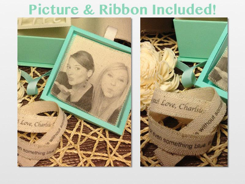 Hochzeit - Ultimate Personalized Option (persoanlized ribbon & picture included)
