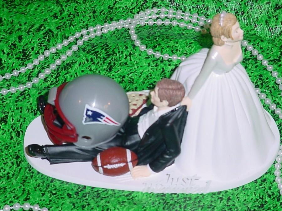 New England Patriots Football Funny Grooms Wedding Cake