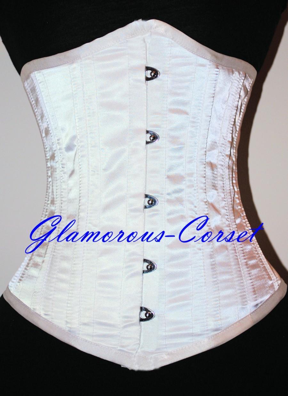 Bridal corset wedding cincher waist training 26 steel for Steel boned corset wedding dress