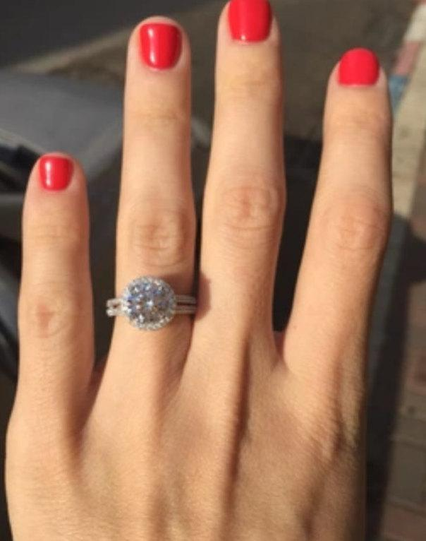 Cubic Zirconia Ring Sterling Silver Engagement Wedding Jewelry Bridal CZ Promise