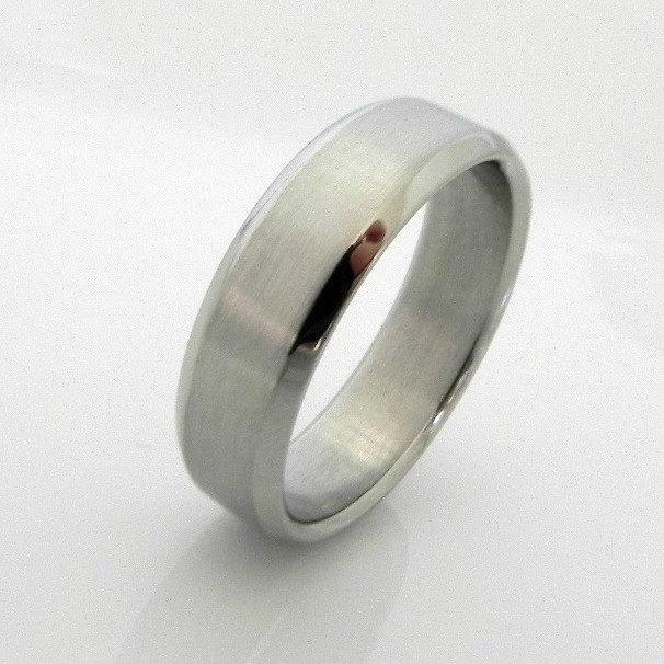 Свадьба - Revivify steel ring, wedding band men's, steel wedding ring, stainless steel ring, wedding ring, beveled ring, promise ring, 362