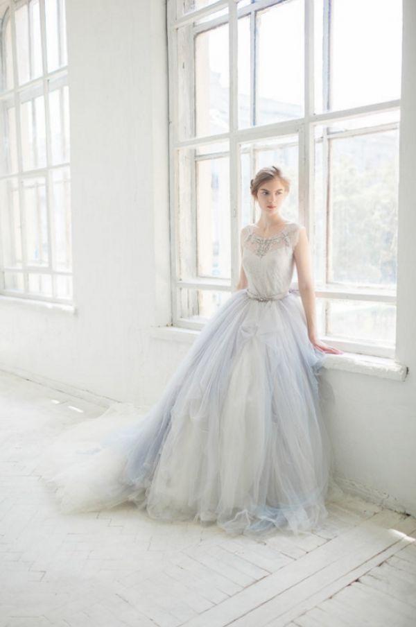 Blush & Dusty Blue Wedding Gowns You\'ll Love #2512448 - Weddbook