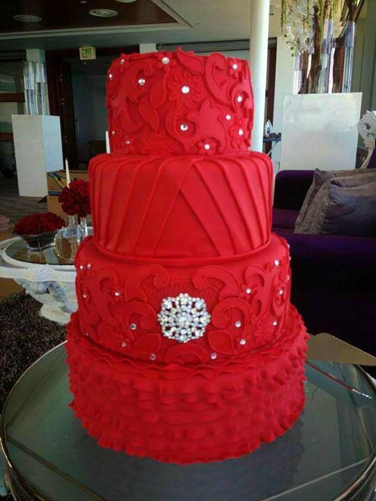 Cake Red Wedding Cake 2512464 Weddbook
