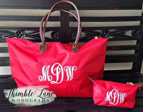 زفاف - Monogrammed Tote Bag Set- Personalized Tote Bag Set- Bridesmaid Tote Bag-Tote Bag Set-Monogrammed Beach Bag- Personalized Gift -Tote Bag