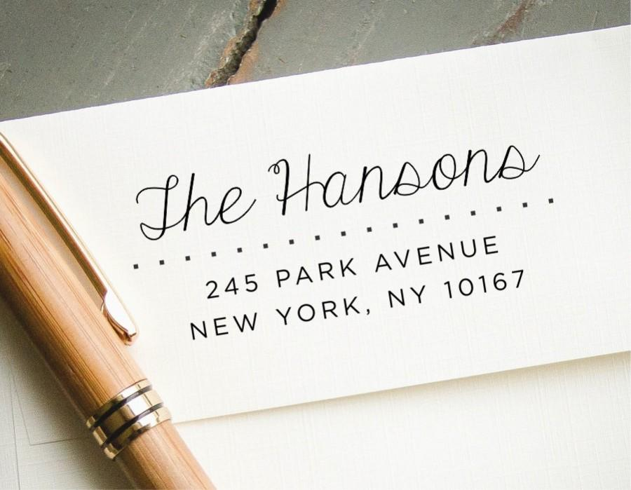 Wedding - Self Inking Return Address Stamp,  Custom Address Stamp, Custom Stamp, Personalized Stamp, Wedding Announcement, Polka Dot