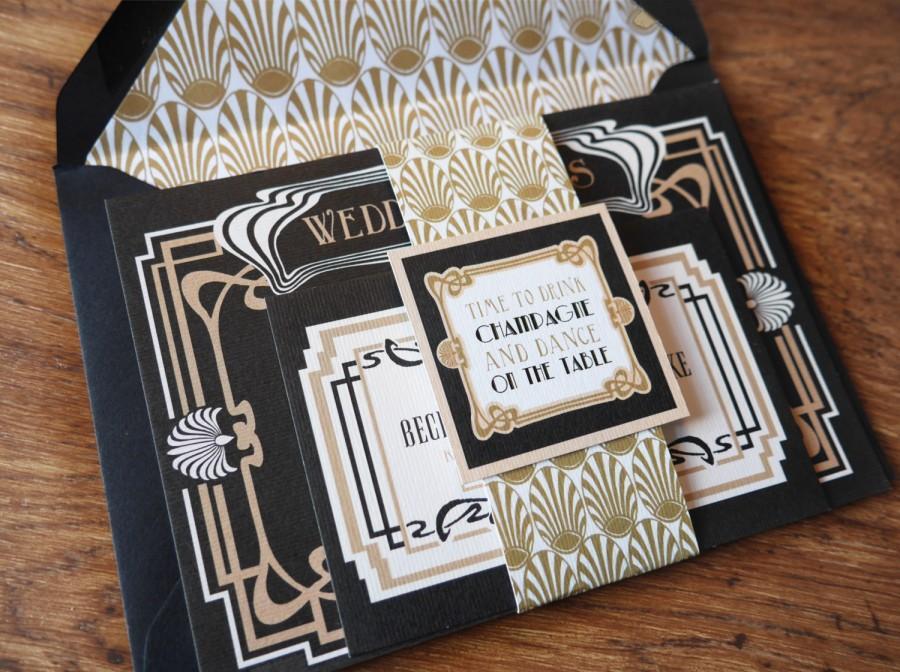 Mariage - Art Deco - Wedding Stationery Set