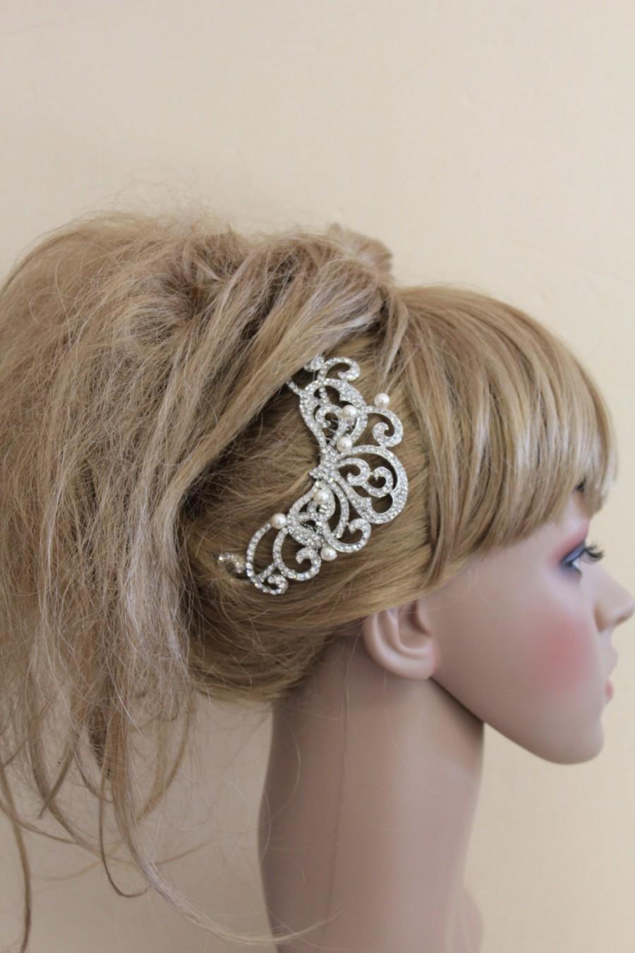 Свадьба - vintage inspired wedding hair comb pearl bridal hair comb wedding hair accessories wedding hair piece wedding comb bridal hair jewelry comb