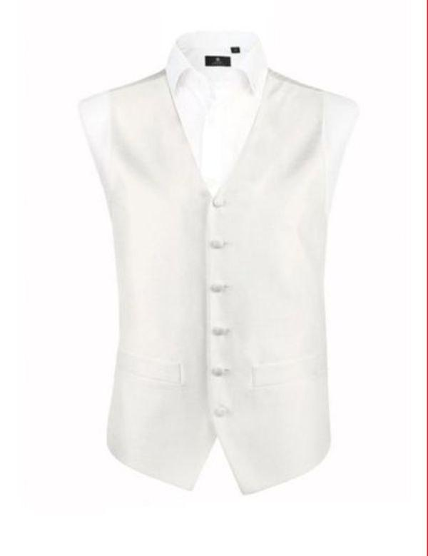 Mariage - Ivory Dupion Waistcoat 36in chest