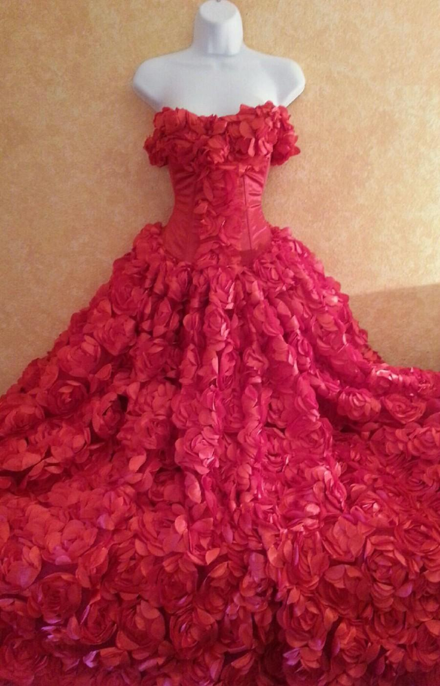 Sample Gown Listing Only / Red Rose Goddess Modified Middle Eastern ...