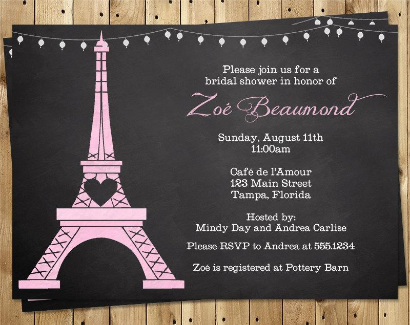 Paris bridal shower invitation chalkboard eiffel tower purple paris bridal shower invitation chalkboard eiffel tower purple french vintage chic wedding lavendar 10 printed invites love story filmwisefo