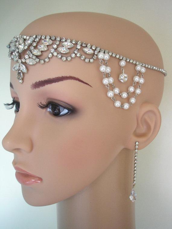 Great Gatsby Headpiece Art Deco Headband Art Deco Hair Accessories