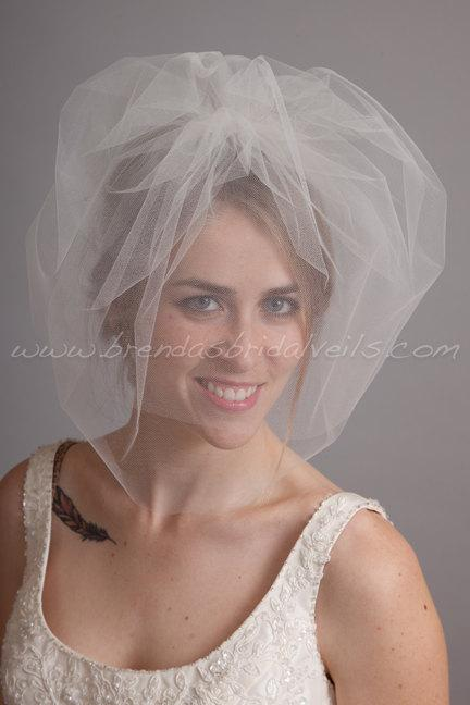 Свадьба - Double Layer Tulle Birdcage Veil, Blusher Bridal Veil, Wedding Veil, White, Diamond White, Ivory, Champagne, Black, More Colors