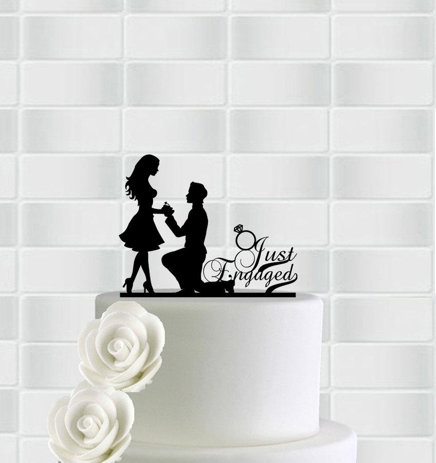 Cake Decorations For Engagement Cake : Engagement Cake Topper,Engagement Party Decorations ...