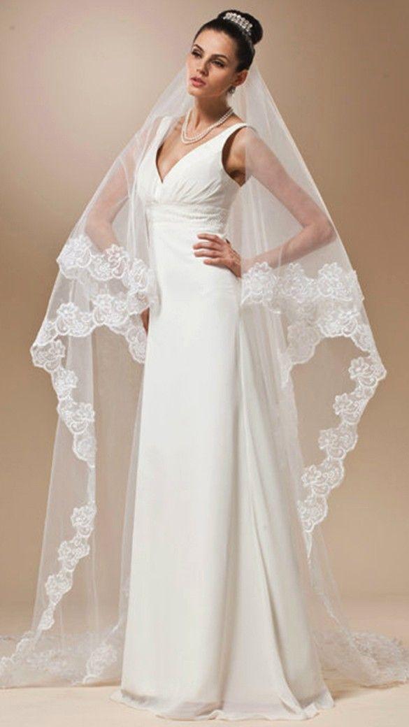 زفاف - Long Lace Wedding Veil