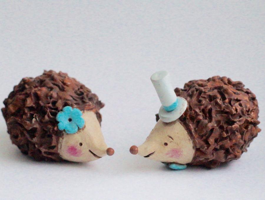 زفاف - Hedgehogs in Love wedding cake topper
