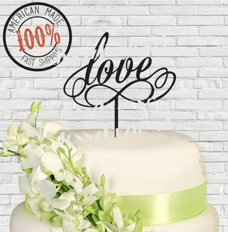 Свадьба - Love Infinity, Infinite Love Silhouette Wedding Cake Topper