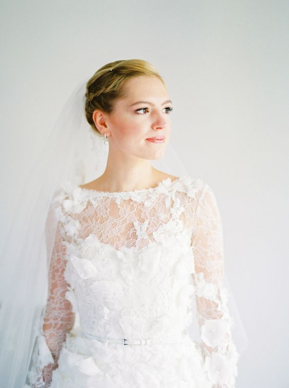 Свадьба - Bride Stuns In Lace Elie Saab Gown Perfect For Her German Countryside Wedding