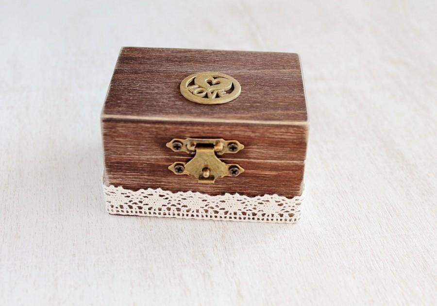 Mariage - Rustic Ring Box, Wedding Ring Box, Custom Ring Box, Engagement Box, Ring Pillow Box, Wooden Ring Box, Ring Bearer Box, Keepsake Ring Box