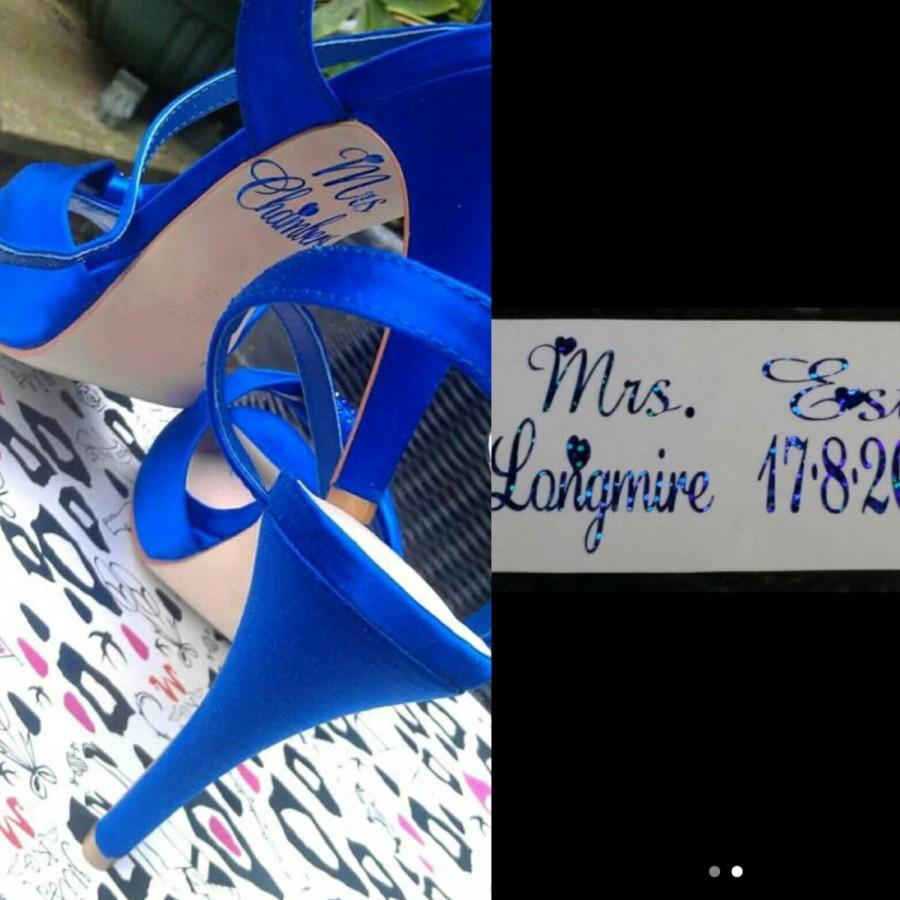 Свадьба - Personalised Bridal Wedding under shoe decal sole sticker *FREE POSTAGE*