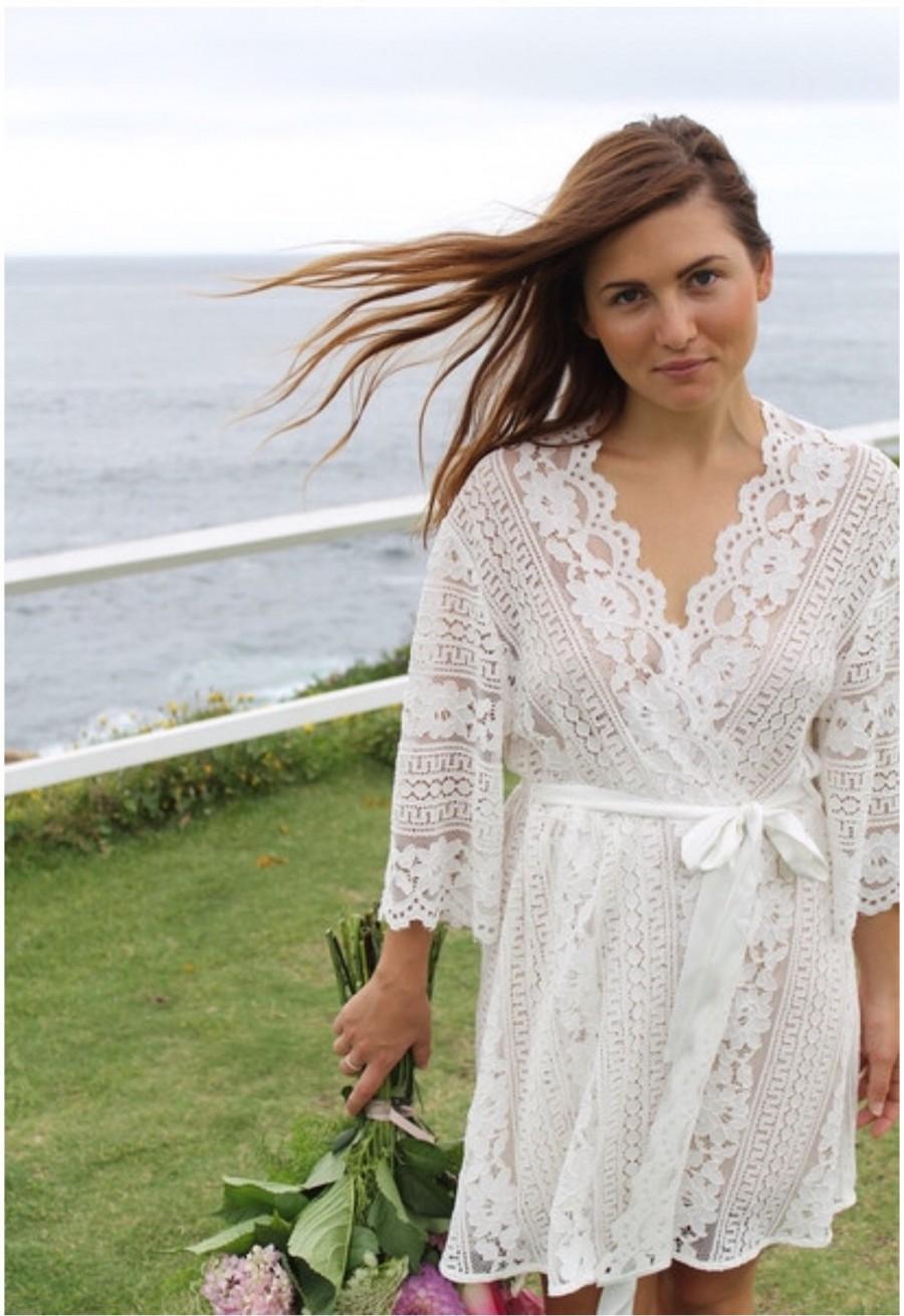 Wedding - Lace Bride Robe