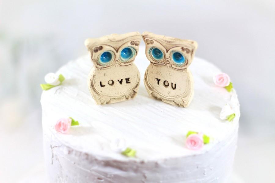 Wedding - Owl Wedding cake topper Love you owls Birthday gift Anniversary gift Engagement gift