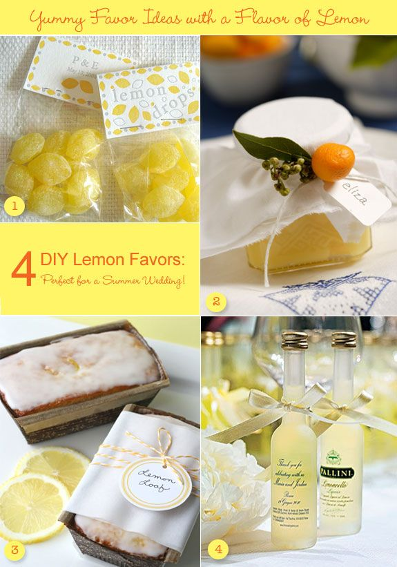 Summer Wedding Favor Ideas Diy : WeddingDIY Lemon Favors: Perfect For A Summer Wedding!