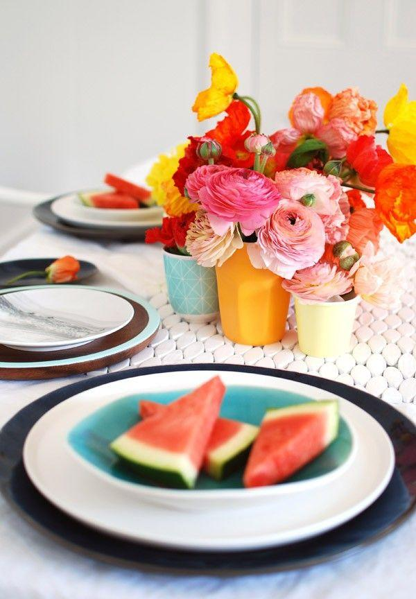 Hochzeit - How To Create The Perfect Spring Brunch Tabletop - We Are Scout