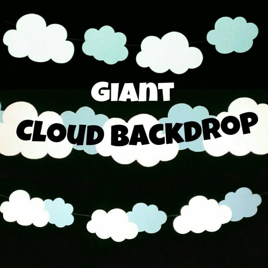 Hochzeit - Giant Cloud Backdrop, White Cloud Garland, Cloudy Sky, Rainbow Birthday, Toy Story, Air Balloon Birthday