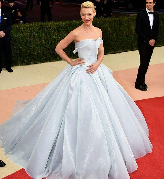 Hochzeit - Glowing Dress Turns Claire Danes Into Cinderella At The Met Gala