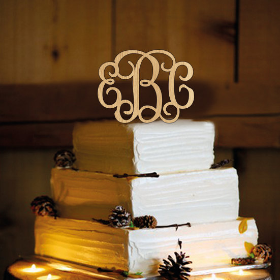 Mariage - Rustic  Wedding Cake Topper - Personalized Monogram Cake Topper - Mr and Mrs - Cake Decor - Bride and Groom