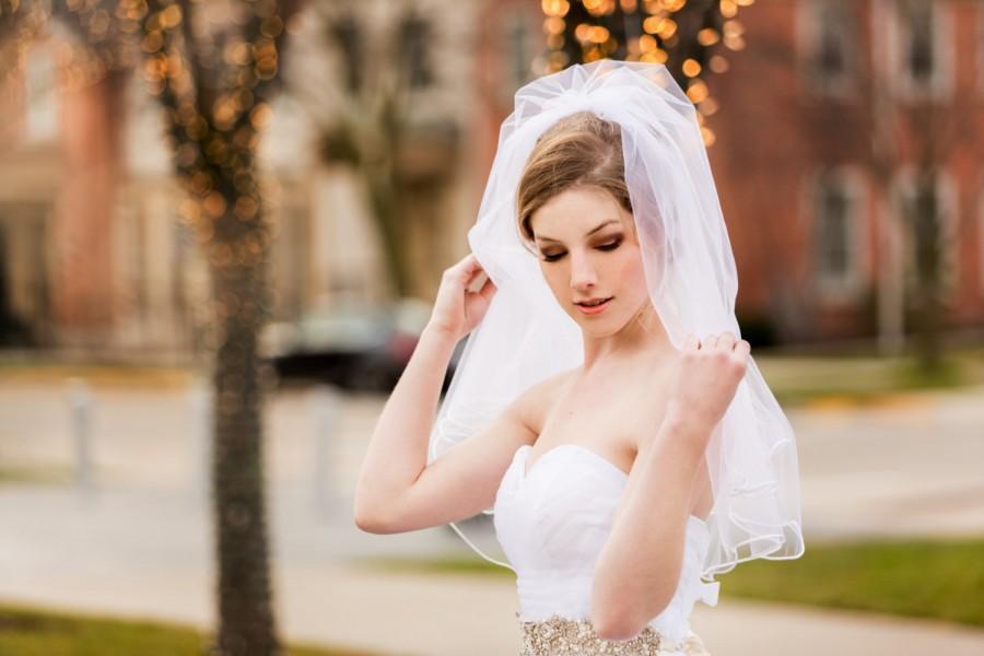 Mariage - Cascade Satin Ribbon Wedding Veil