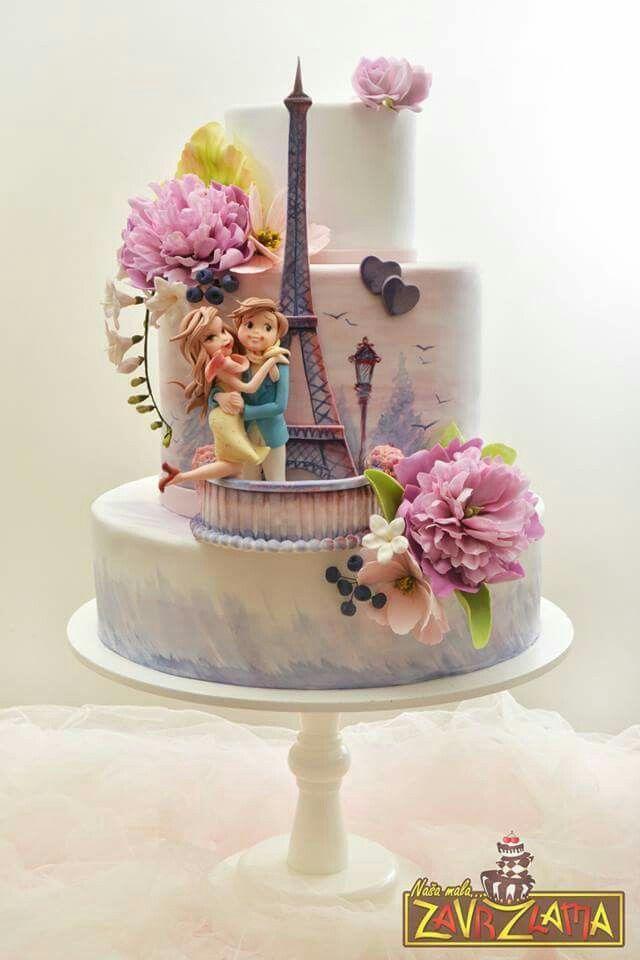 Gateau Paris Wedding Cake 2513770 Weddbook