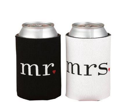 Mariage - Mr. and Mrs. Can Coolers/Coozie Gift Set