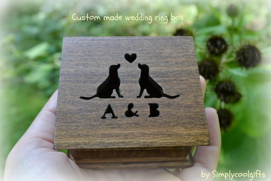 Mariage - wedding ring box, custom ring box, ring pillow box, personalized ring box, pillow box, ring box, gift box, wedding ring pillow, wooden box
