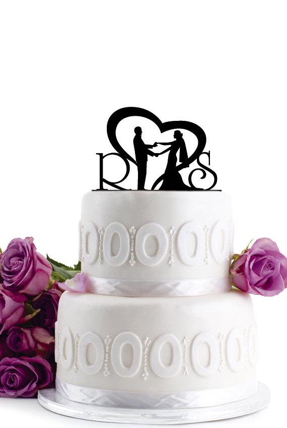 زفاف - ON SALE !!! Wedding Cake Topper - Wedding Decoration - Cake Decor - Monogram Cake Topper - For Love - Birthday Cake Topper