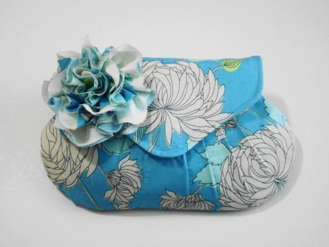 Mariage - Custom Order for M M -Blue Chrysanthemum with Removable Handmade Flower