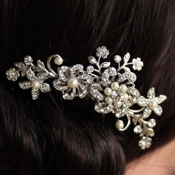 Mariage - Bridal hair comb, Wedding Hair Comb,Crystal hair accessories, Wedding Hair Clip, Bridal Hair Piece,  Crystal hair comb Wedding