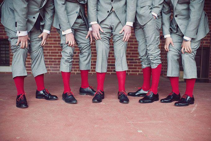 Hochzeit - A Modern Red And Gray Wedding