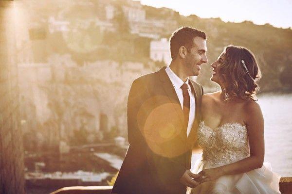 Wedding - Rose Gold And Burgundy Italian Wedding At Villa Silvana
