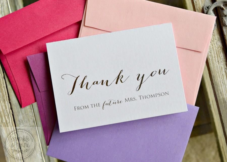 Wedding Gift Thank You Greetings : ... Thank You Cards, Wedding Thank You Cards, Bridal Shower Gift - Set of