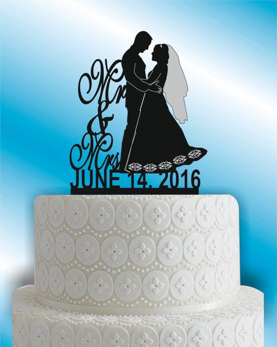 Wedding - bride and groom wedding cake topper, cake topper,silhouette cake topper,heart cake topper,custom wedding cake topper,wedding decor