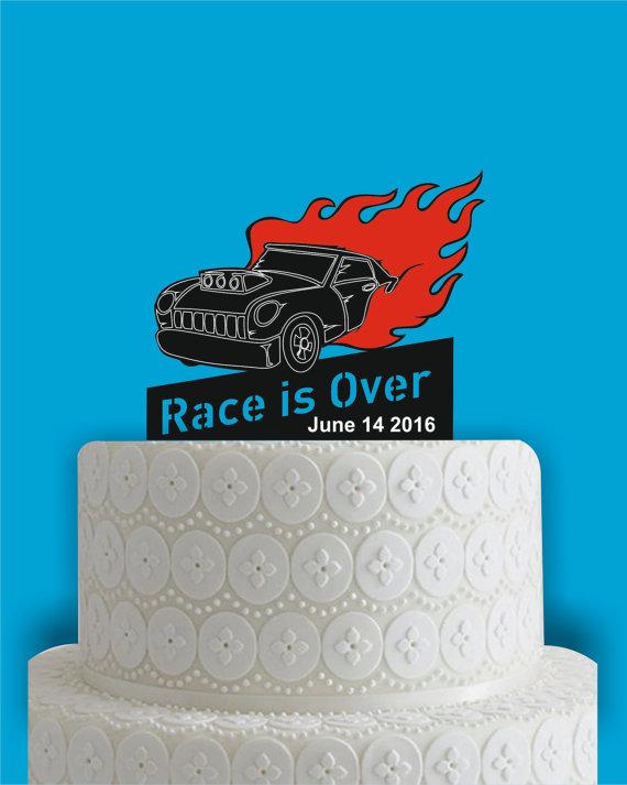 Hot Rod Cake Topper Race Cake Topper Car Cake Topper Mustang Cake