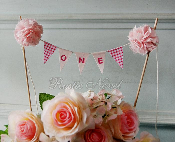 Mariage - 1st Birthday Cake Topper Bunting