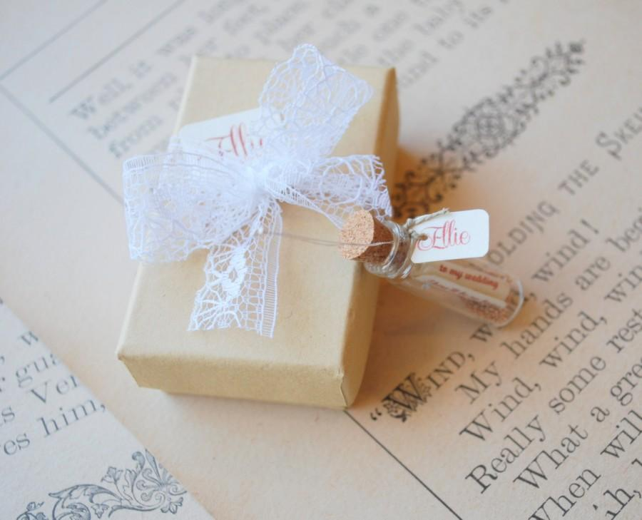 Rustic Bridesmaid Invitations Be My Bridesmaid Message In A