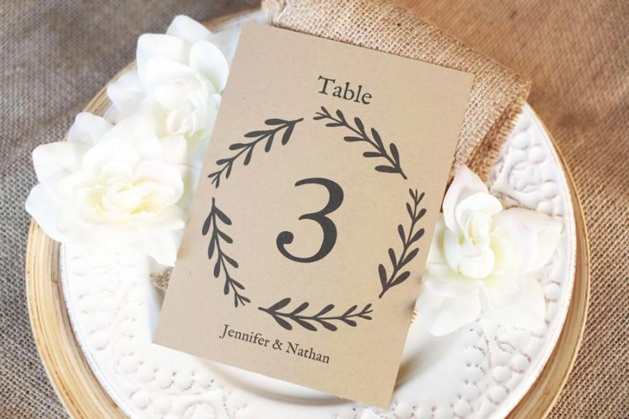 printable table numbers flat frame insert download instantly