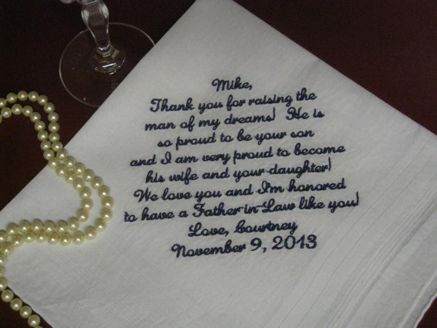 Father Of The Groom Handkerchief Hankie Hanky Proud To Be Your