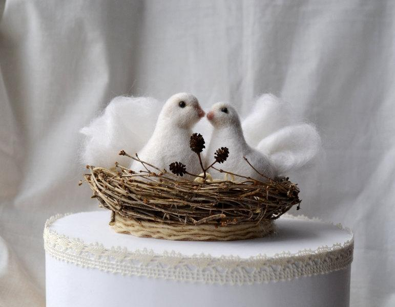 Mariage - Bird Wedding Cake Toppers... I will make this item for your order