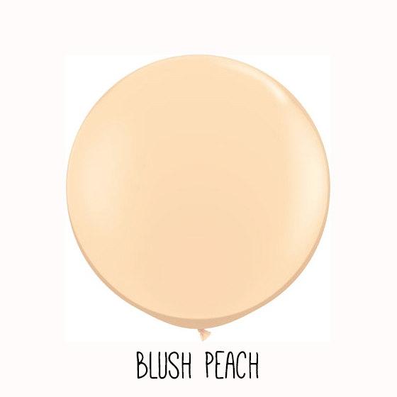 """Hochzeit - Wedding Balloon, Wedding Reception Balloon, Bridal Shower Balloon, Baby Shower Balloon - 36"""" Round Blush Peach Balloon Only"""